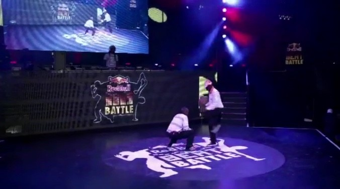 Figure 8: Prince and Mada perform at the Red Bull Beat Battle, still from The African Cypher.
