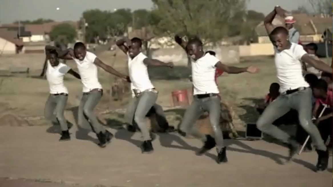 Figure 9: The Soweto Finest Sbhujwa crew, still from The African Cypher.