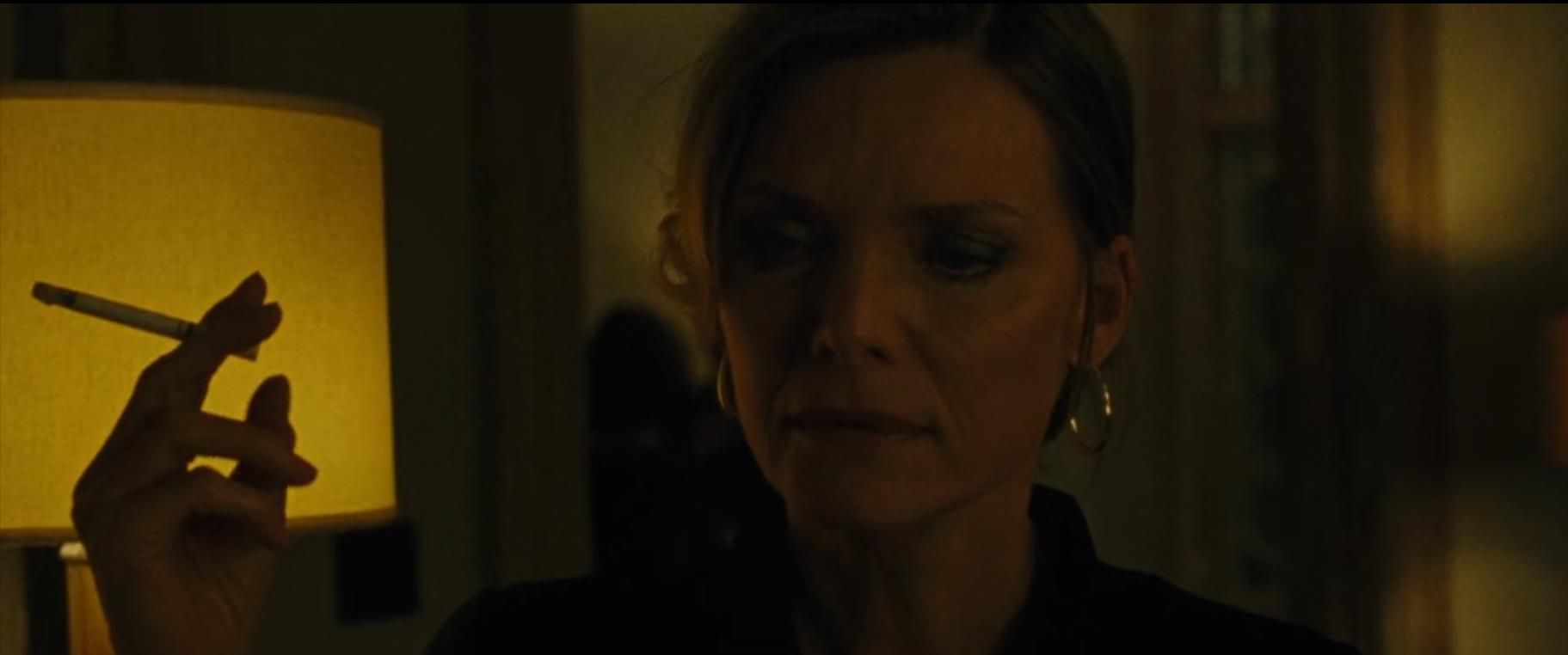 "Figure #1: Woman's reproachful glance at mother's ""indecent"" exposure; Michelle Pfeiffer in mother! (Darren Aronofsky, 2017)"