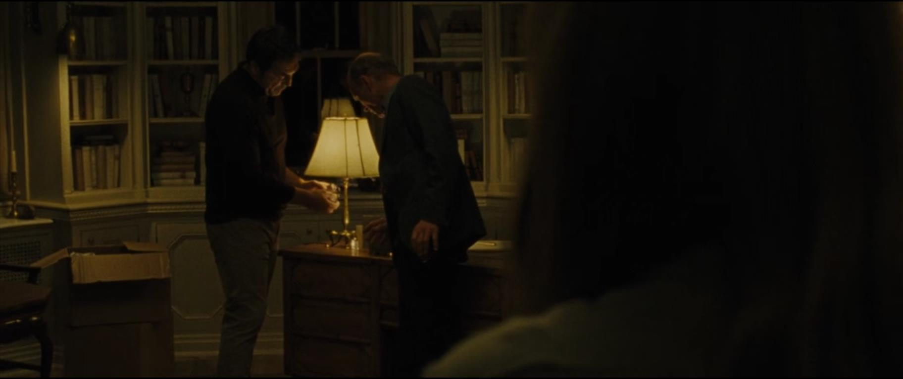 Figure #2: He (Javier Bardem) shows Man (Ed Harris) his crystal and describes his loss in mother!