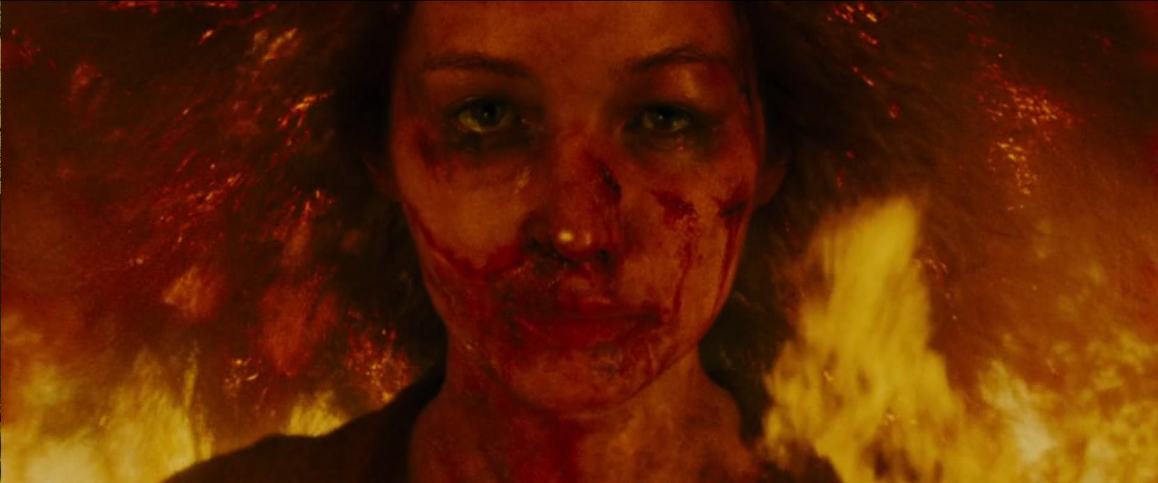 Figure #3: mother's (Jennifer Lawrence) self-immolation