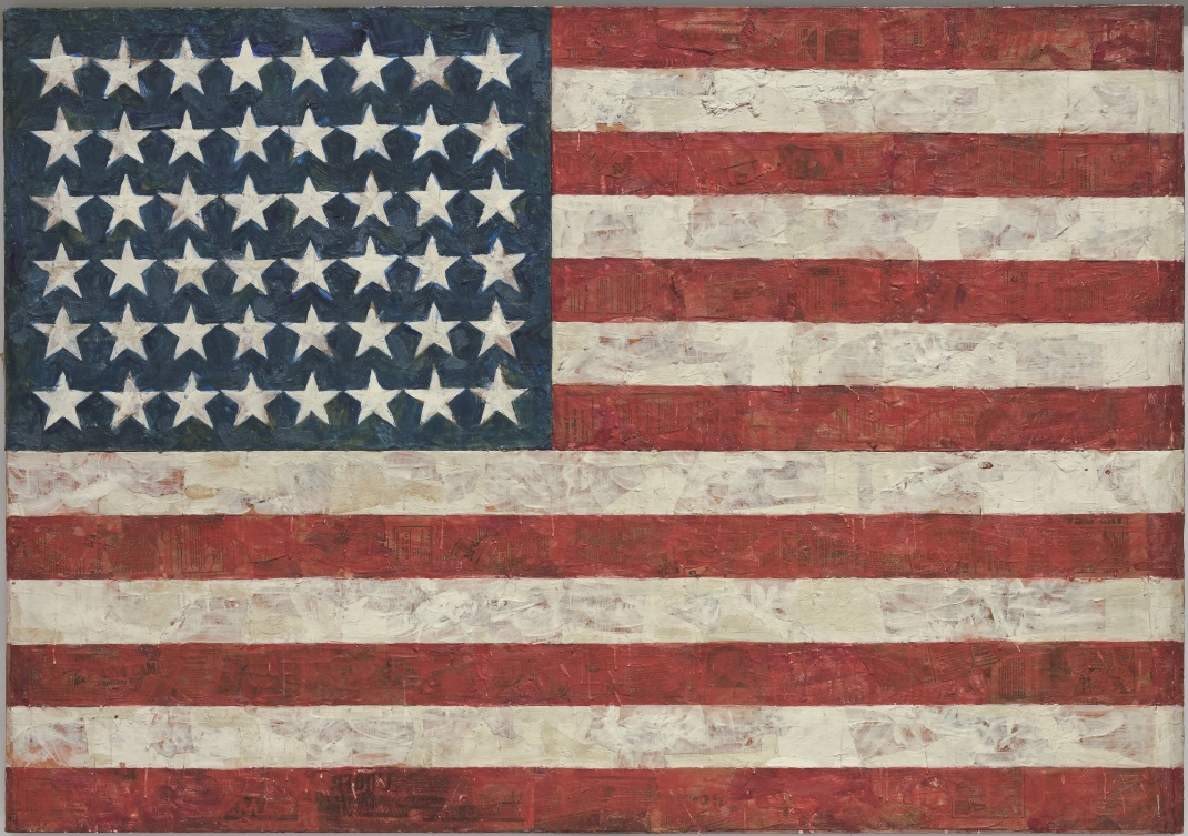 Figure 3: Jasper Johns, Flag (1954-55)