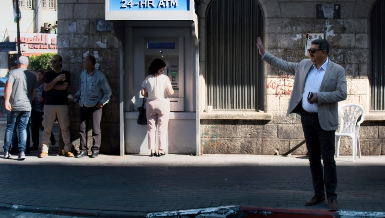 Figure 4: Mayor Musa on the streets of Ramallah in David Osit's Mayor (2020). Produced by Rosewater Pictures.