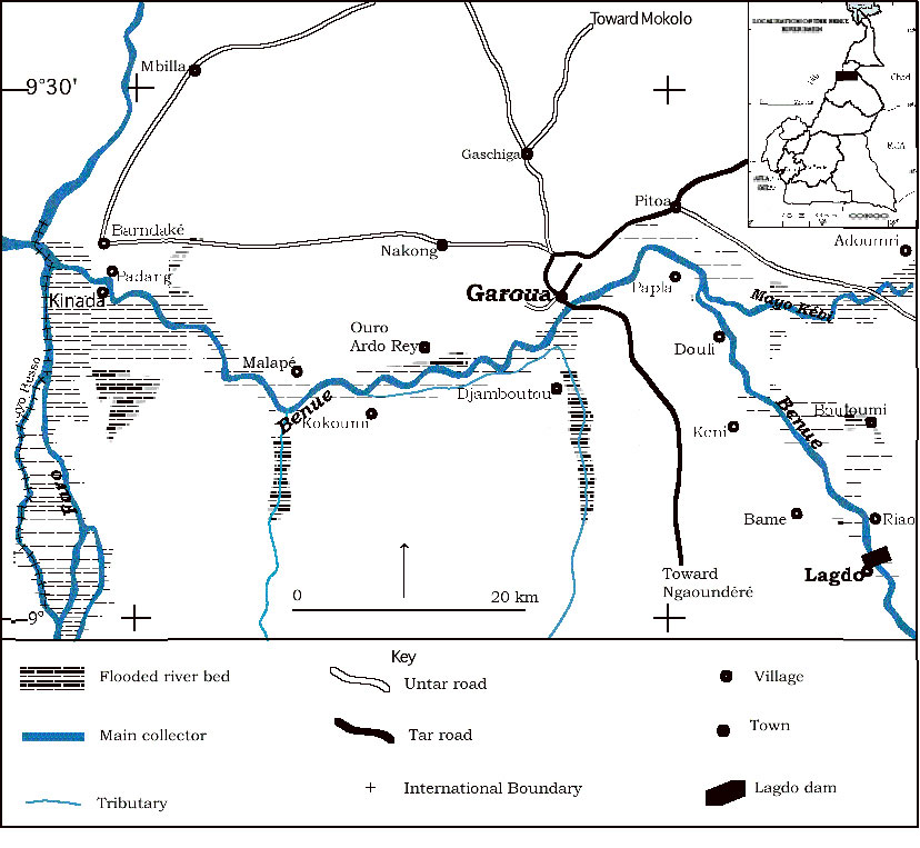 Benue River Africa Map.The Socio Economic Downstream Impact Of Large Dams A Case Study