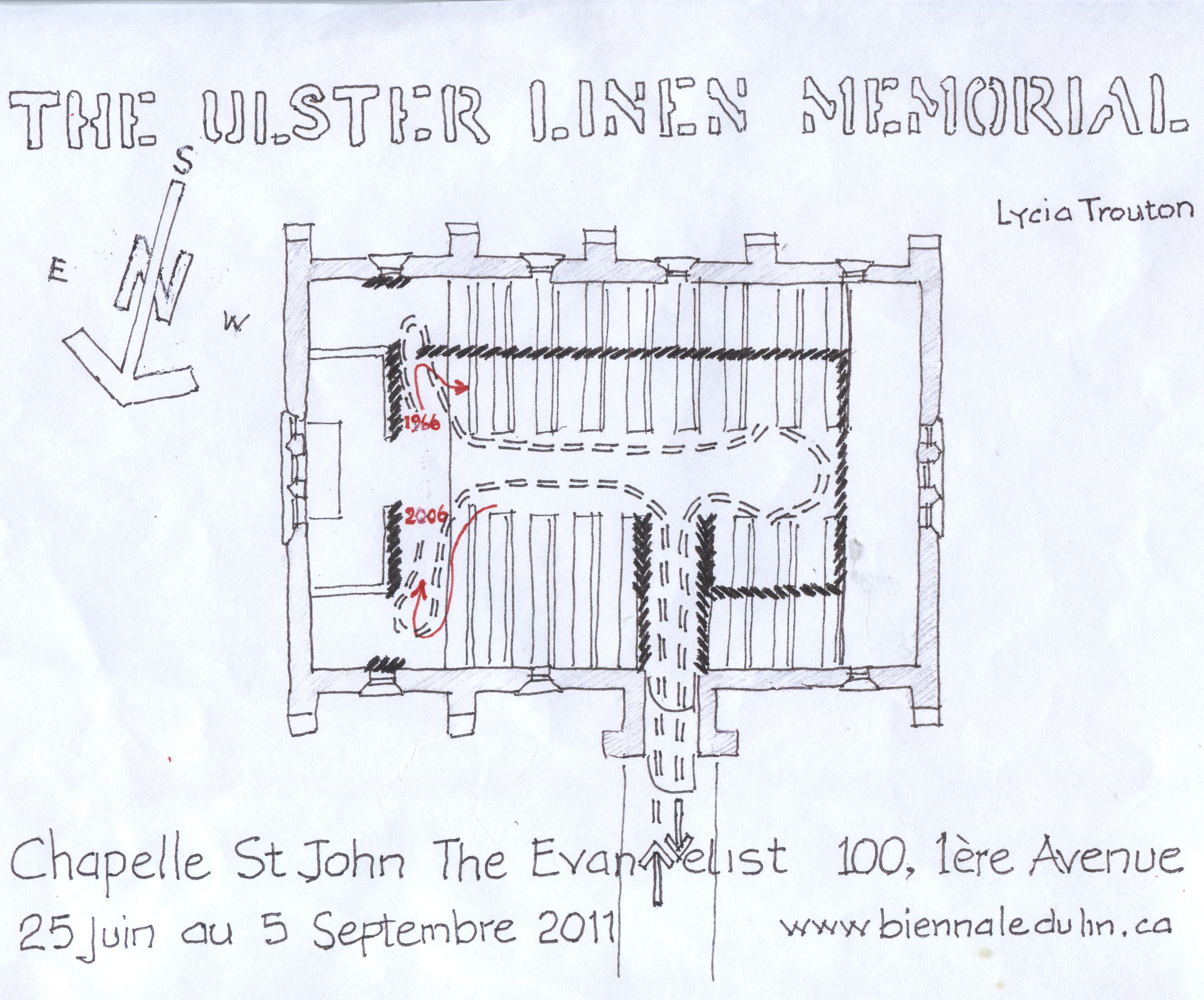 Irish Families And Globalization Conversations About Belonging 1980 B Tracker Wiring Diagram Schematic Plan Of Linen Memorial Installation Quebec 2011 Courtesy Robert