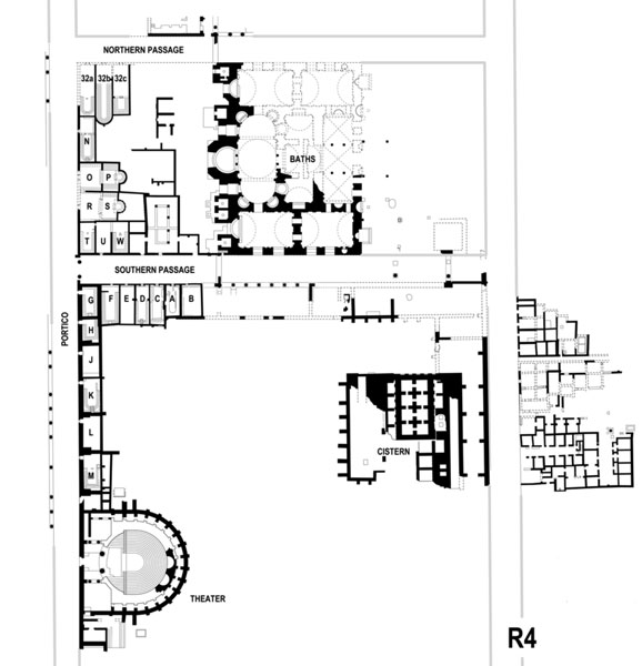 Fig. 1: : Kom el-Dikka. General plan of the site. (Drawing W. Kołątaj, D. Tarara)