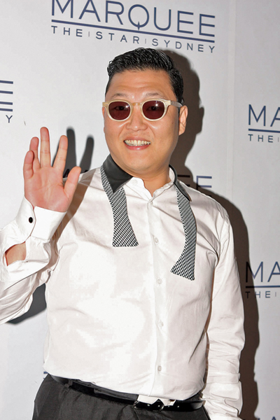 "Korean rapper and songwriter PSY is well-known for his humorous videos and stage performances, and for his hit single ""Gangnam Style,"" which is the most viewed K-pop video on YouTube with more than 583 million views. On October 23, 2012, PSY met U.N. Secretary General Ban Ki-moon at the United Nations Headquarters where Ban remarked that PSY has an ""unlimited global reach."" Photo by Eva Rinaldi from Sydney, Australia via Wikimedia Commons."