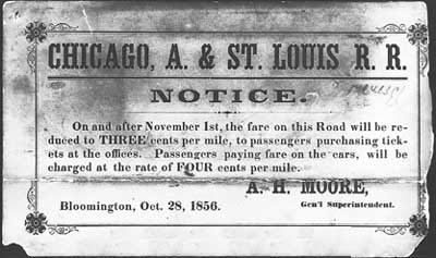 Exhibit of the ticket purchasing notice used in the Dalby case.