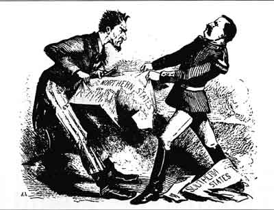 """Pull Devil—Pull Baker,"" Comic News, October 8, 1864 (The Western Reserve Historical Society, Cleveland, Ohio)"