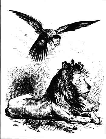 """The Yankee Eagle and the Lion,"" Comic News, March 7, 1865 (The Western Reserve Historical Society, Cleveland, Ohio)"