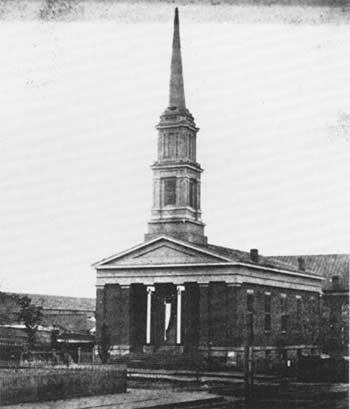 First Presbyterian Church, Springfield, Illinois. Here is where the Lincoln family worshipped while living in Springfield.