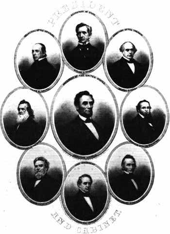 President Lincoln and his cabinet.