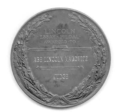 lincoln essay contests lincoln medals and the commercialization  figure b inscribed on the back of the typical piece was the name of the