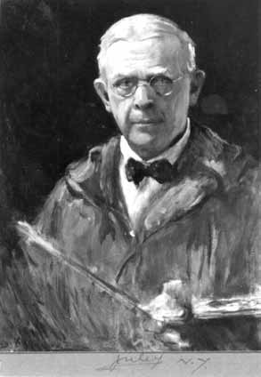 Figure 4. Douglas Volk (1856–1935) submitted this self-portrait to fulfill a requirement for membership in the National Academy of Design, New York City. A photograph of the portrait, completed in 1924, was provided by Mrs. Jessie Volk, the painter's daughter-in-law.