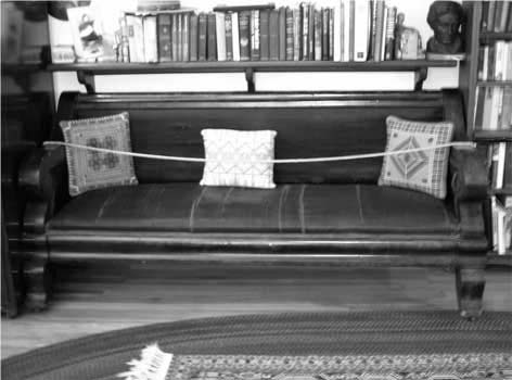 "Figure 1. The ""Lincoln Sofa,"" built by Jacob Ruckel circa 1837, is today in the office of former U.S. Congressman Paul Findley, Jacksonville, Illinois."