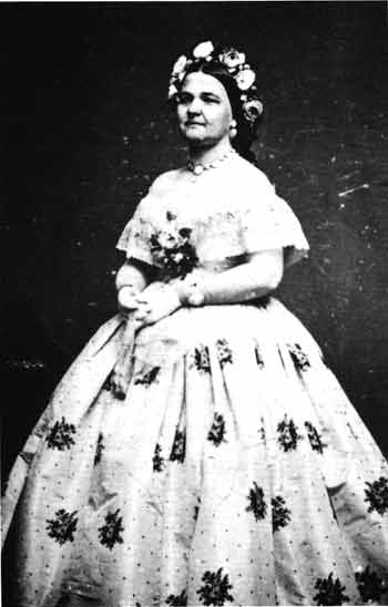 Mary Todd Lincoln as photographed by Mathew Brady in 1861.