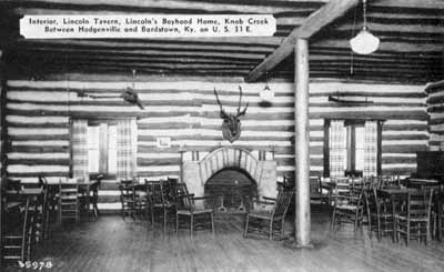 Figure 3. Early postcard view of the Lincoln Tavern interior. From the author's collection.