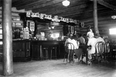 Figure 6. An interior view of the Lincoln Tavern, probably made in the 1940s. Photo courtesy Mary Brooks Howard.