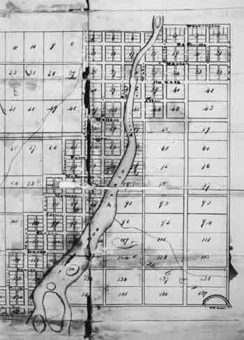 The Cook County school commissioner's plat illustrating area in dispute