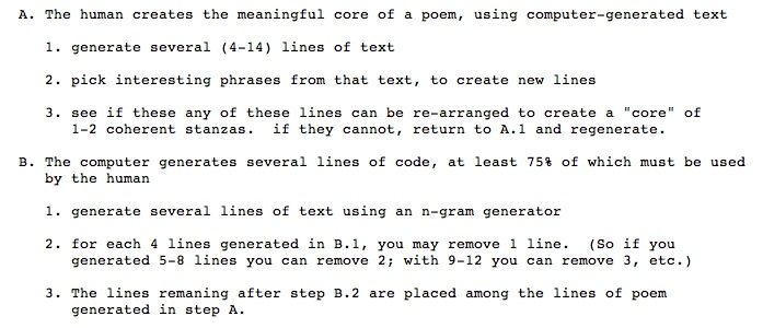 Language Technology Enables a Poetics of Interactive Generation