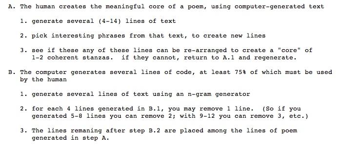 Acrostic poem generator for technology reanimators