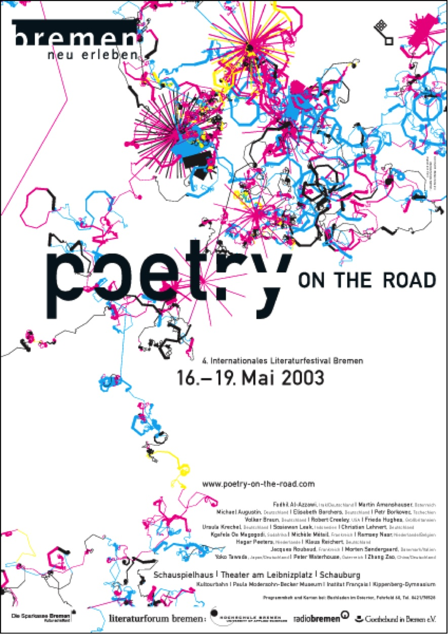 "Figure 10. Boris Müller, ""Poetry on the Road,"" 2003 Poster. Esono.com"