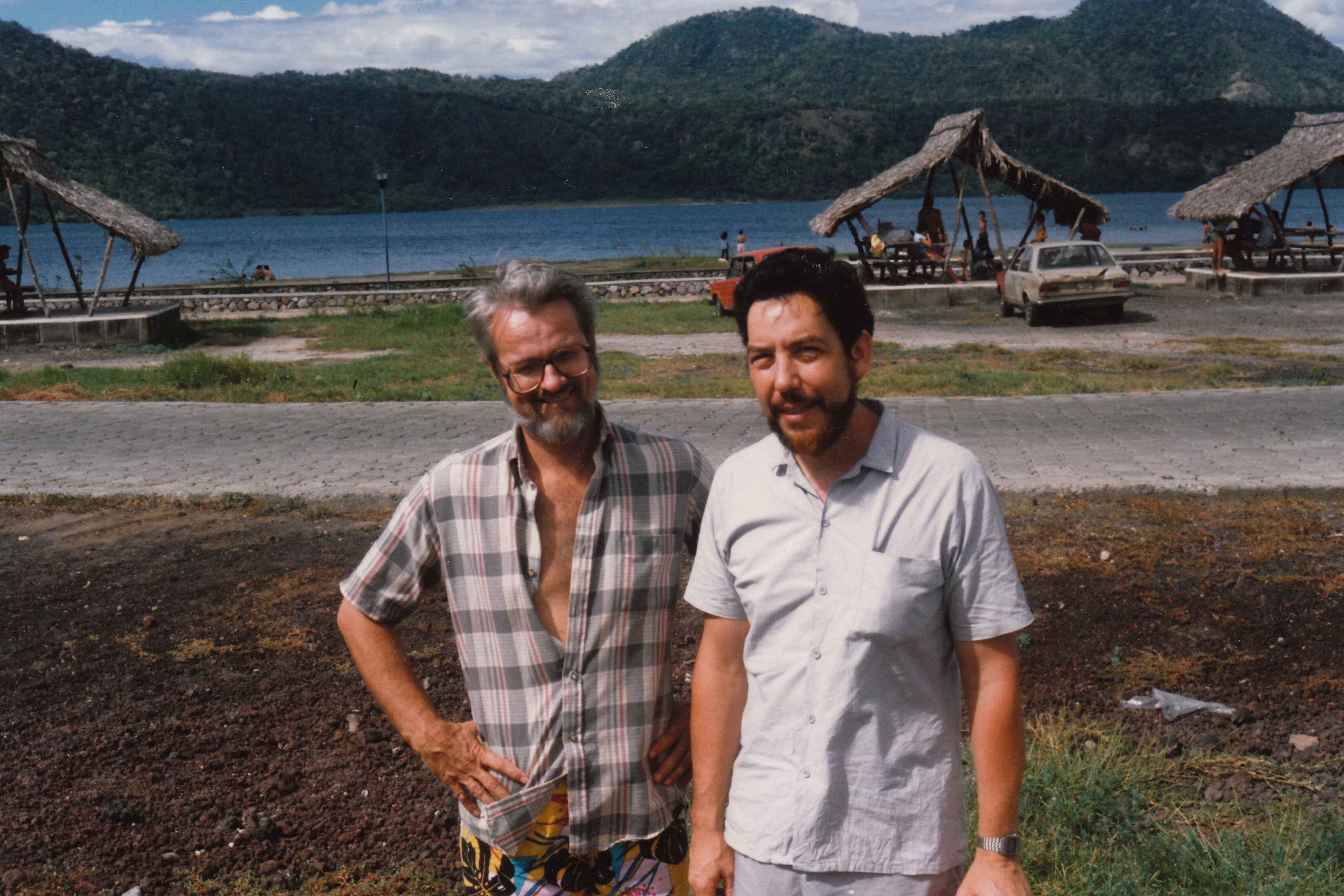 Figure 20.4. Alan in Managua, Nicaragua, with John Vandermeer during the Contra War, December 1986. Credit: Personal collection of Alan M. Wald.