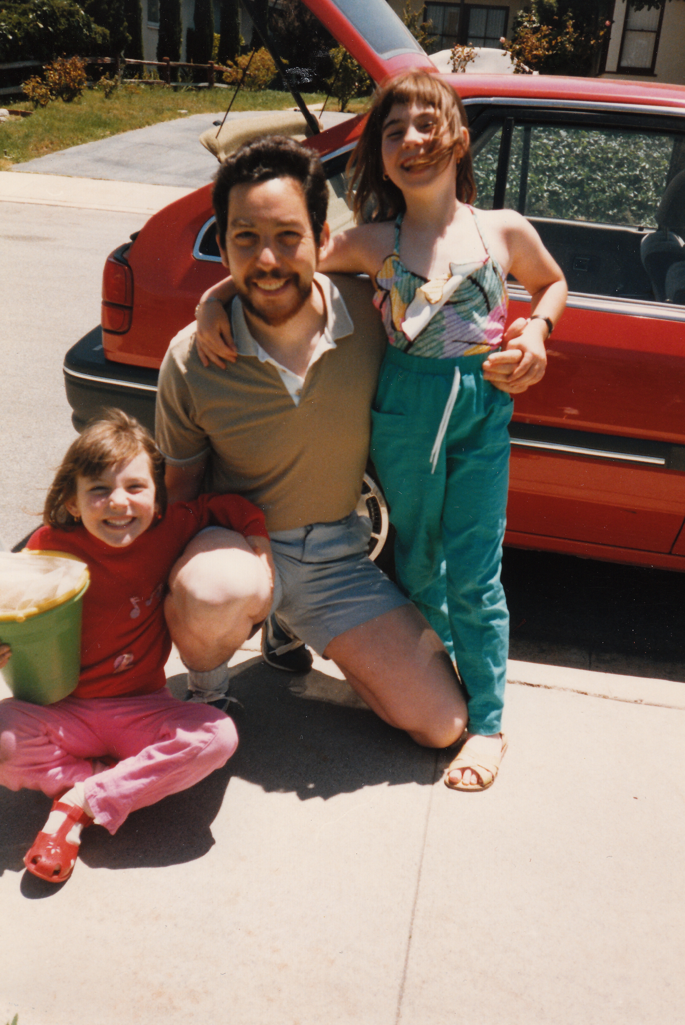 Figure 20.6. Alan with his daughters Sarah and Hannah, Los Angeles, 1988. Credit: Personal collection of Alan M. Wald.