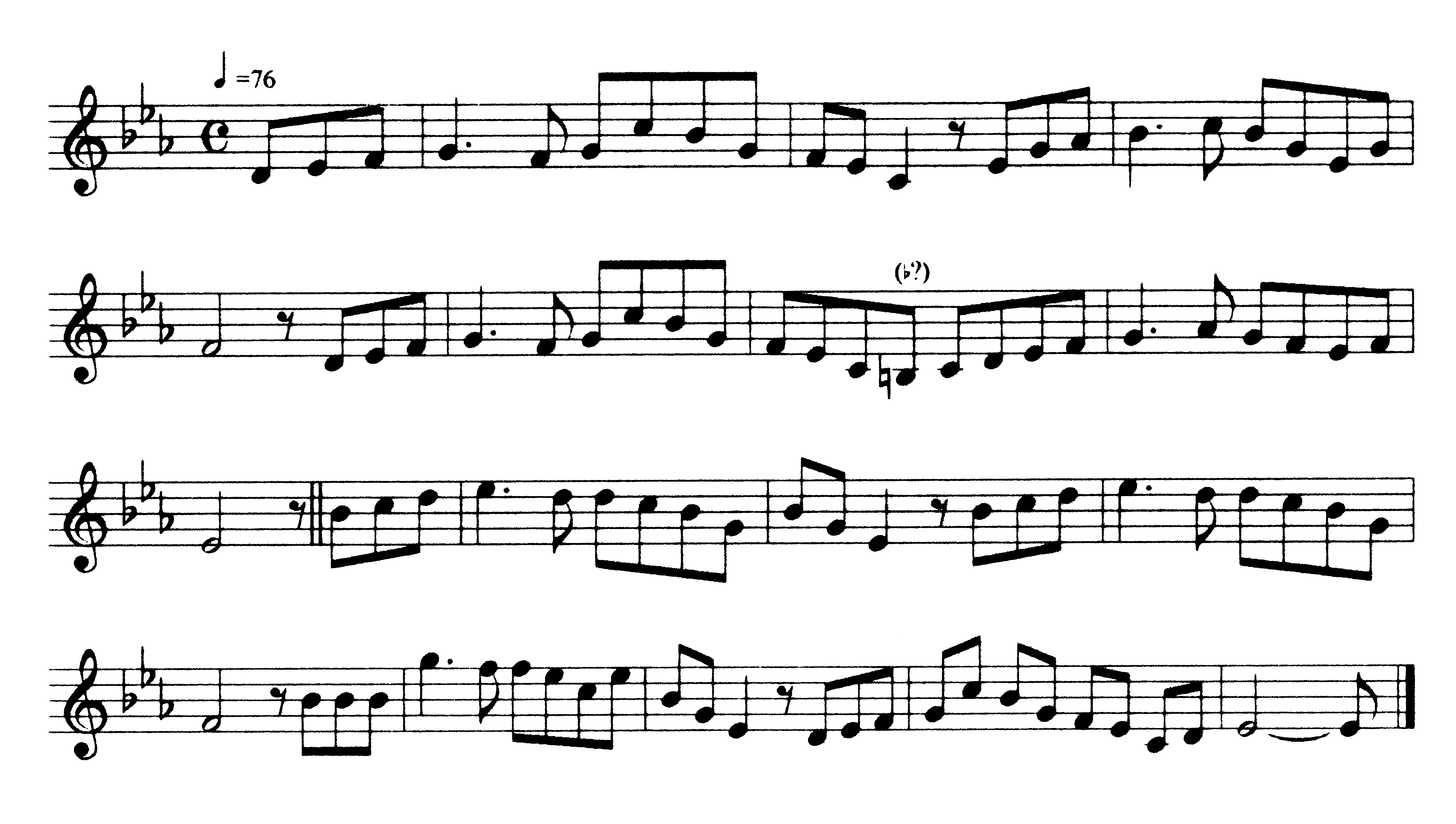 "Figure 1. The unknown song that became ""A Londonderry Air"" and ""Danny Boy."" From David Cooper, ed., The Petrie Collection of the Ancient Music of Ireland (Cork: Cork University Press, 2002 [1855]), 94. Reproduced with kind permission of the author and Cork University Press.: Note that the transcription reproduced here is not an actual musical text, but the representation of a musical text: a description of a cultural act and not the act itself. Just as published collections of Ireland's Gaelic poetry were translated into English—since its intended readers, the English-speaking intelligentsia, were unfamiliar with the lingua franca—musical texts were ""translated"" into a form suited to the mainly urban, amateur musicians who performed them on piano and violin. These transcriptions were not used by those whose singing or instrumental playing they describe, for the popular musical tradition was an oral one."