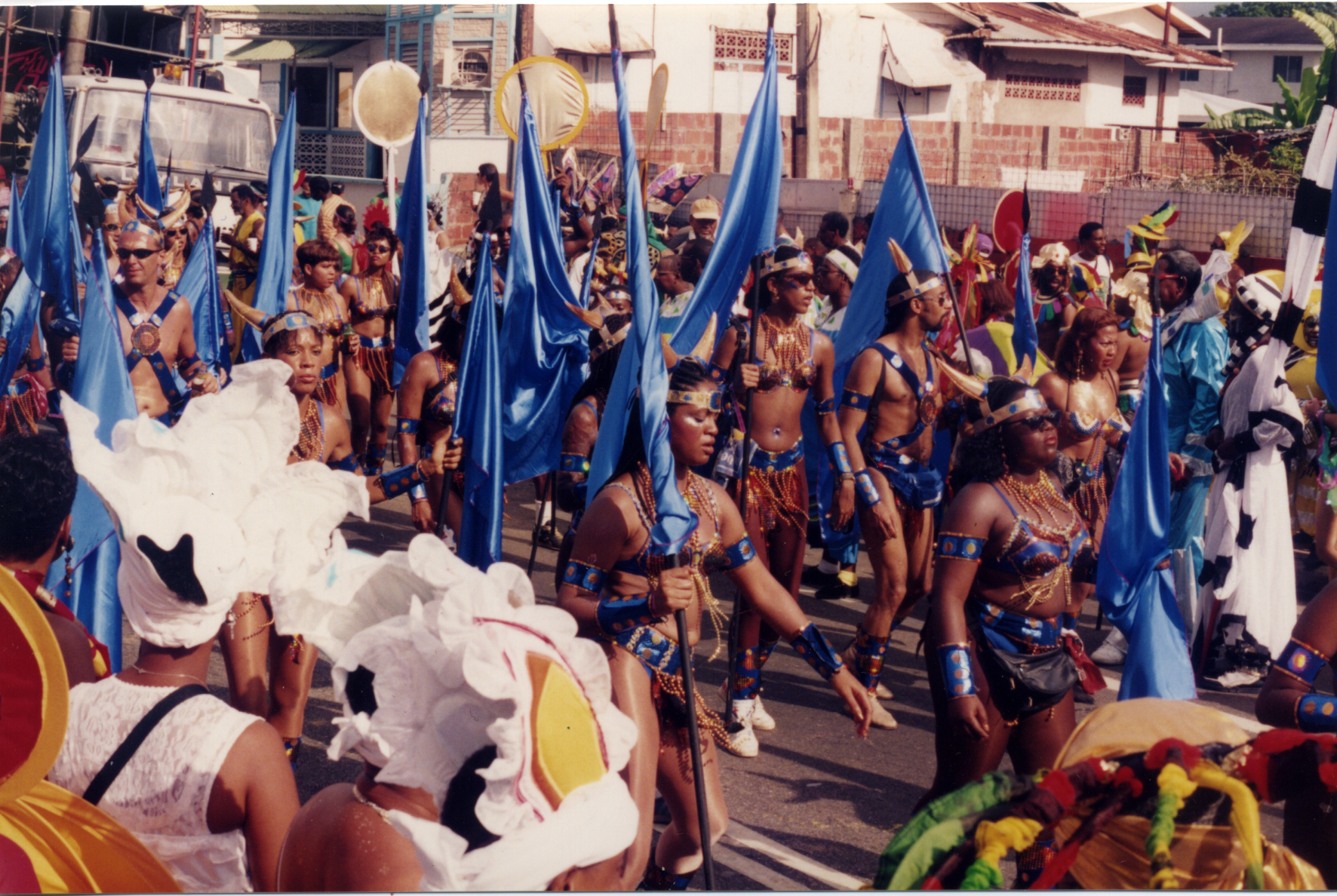 Figure 1.: Masquerade revelers on Carnival Tuesday, 1996. Photograph by the author.
