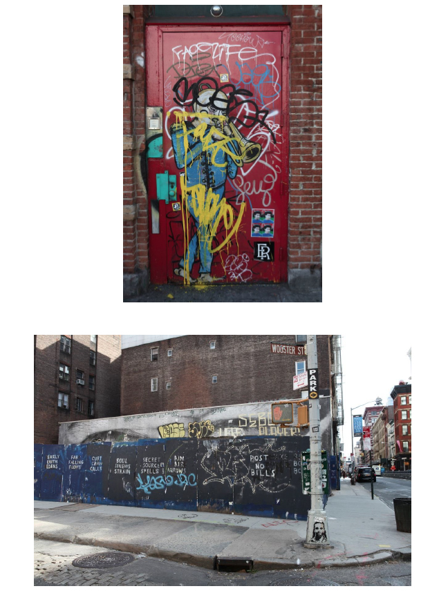 Fig. 4 and 5: Palimpsestic street art (photos by author)