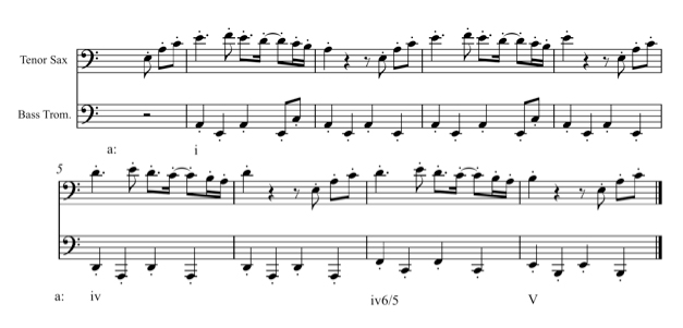 "Example 1: Beginning of the beat for ""Poka, Medved!"""