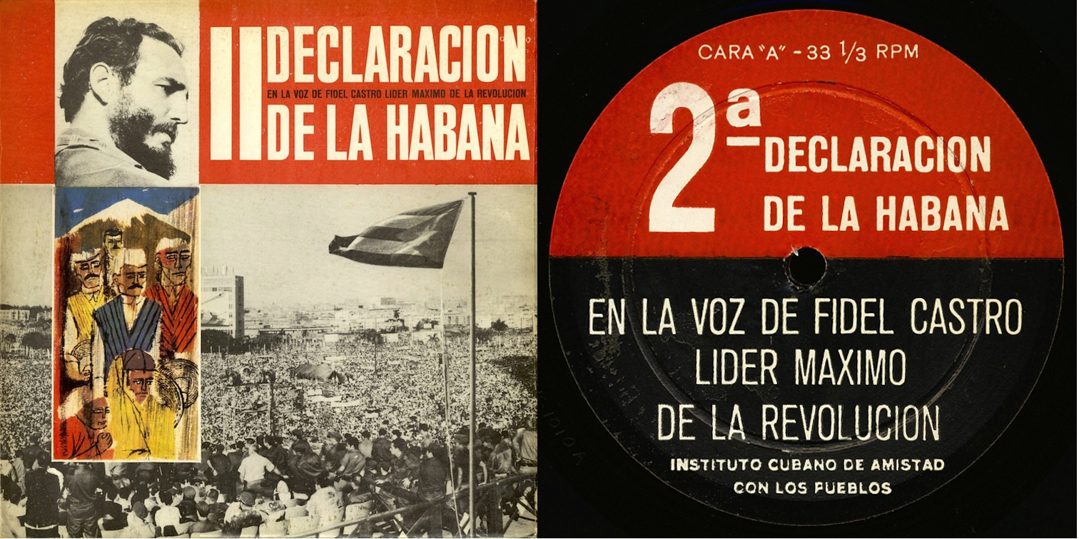 Image 2: Cover and label of the vinyl record of Fidel Castro's speech (given in Havana, February 4, 1962).