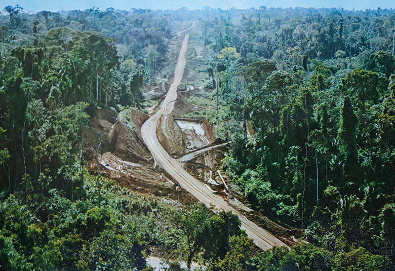 Fig. 11 Earthworks: Images of the Trans-Amazonian Highway being carved out in the middle of the jungle became one of the most powerful symbols of the nationalist ideology of the military regime.