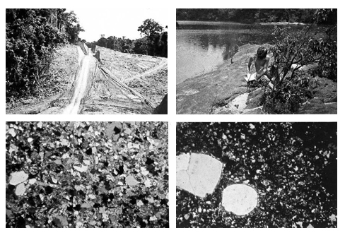 Fig. 12 – Fig. 15 Geological taxonomy: Sample images of the RADAM catalogue describing field-work research used for the geological classification of soil profiles in Amazonia.