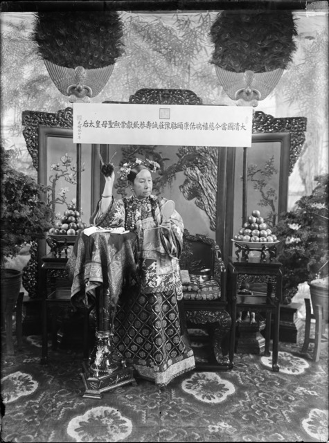 Fig. 2: Xunling, 'The Empress Dowager Cixi'. China, Qing dynasty, 1903-1904. Glass plate negative, SC-GR 251. Courtesy of the Freer Gallery of Art and Arthur M. Sackler Gallery Archives.