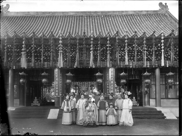 Fig. 3: Xunling, 'The Empress Dowager Cixi with attendants in front of Paiyunmen, Summer Palace, Beijing'. China, Qing dynasty, 1903-1904. Glass plate negative, SC-GR 260. Courtesy of the Freer Gallery of Art and Arthur M. Sackler Gallery Archives.