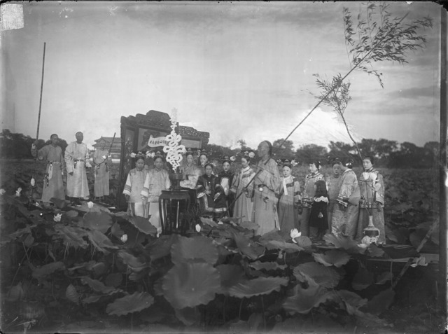 Fig. 6: Xunling, 'Empress Dowager Cixi and attendants on a barge on Zhonghai Lake, Beijing'. China, Qing dynasty, 1903-1904. Glass plate negative, SC-GR 265. Courtesy of the Freer Gallery of Art and Arthur M. Sackler Gallery Archives.