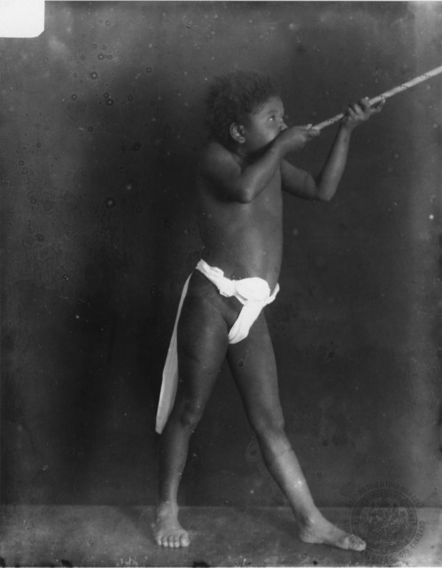 Figure 14. Semang boy Khanung, as photographed by King Chulalongkorn (N.d.).