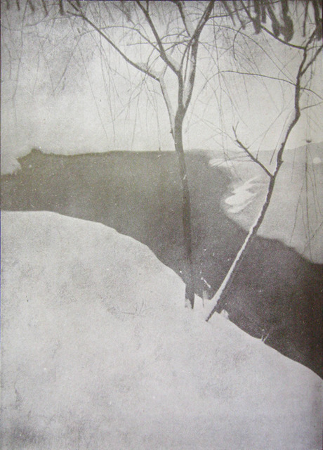 Fig. 14: Sun Zhongkuan 孫仲寛 (active 1920s), Winter Stream 寒溪. Gelatin silver print. From Guangshe Nianjian (Annual of the Beijing Light Society), no. 1 (1928). Courtesy of the Shanghai Muncipal Library.