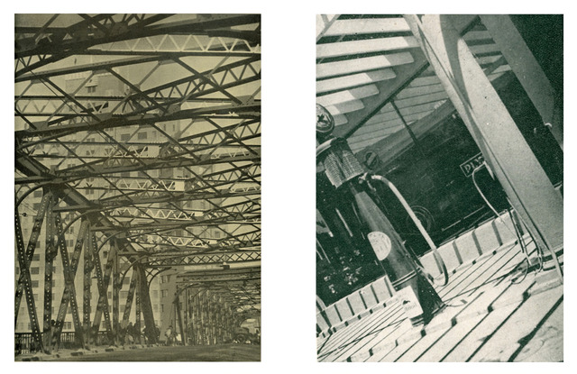 Fig. 21a:  Luo Gusun 羅榖蓀 (active 1930s), Bridge 橋梁, ca. 1935. Gelatin silver print. From Heibai yingji, No. 2 (1935).