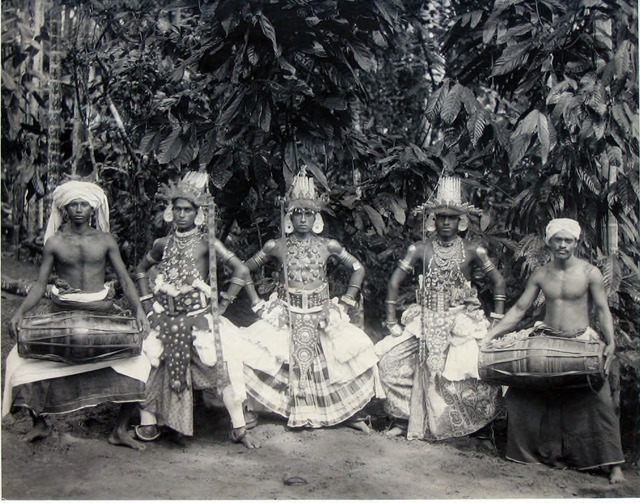 Fig. 7. Plâté & Co. Devil Dancers, Ceylon. Photo courtesy of the collection of Dr. Helga Wall-Apelt, TR2007.2823.294, Sarasota, Florida.