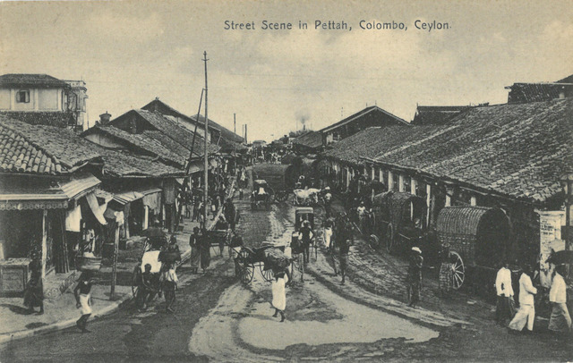 Fig. 10. Plâté Ltd. No. 79, Street Scene in Pettah, Colombo, Ceylon. Collection of the author.