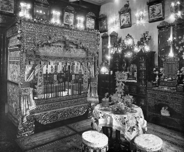 Fig. 3. Peranakan wedding chamber, undated photograph c1930. (The Peranakan Association, courtesy of National Archives of Singapore)