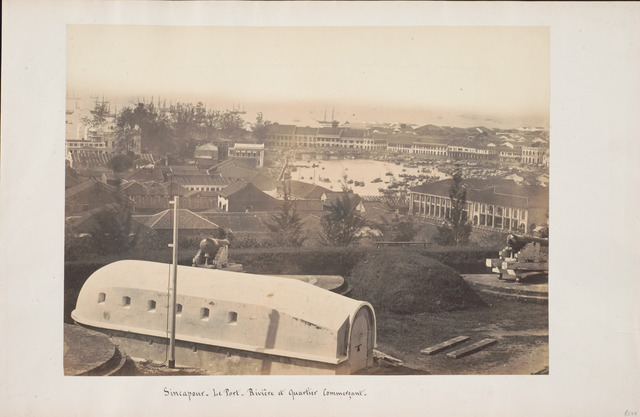 Fig. 12. View of Boat Quay from Fort Canning, 1860s, by Sachtler & Co. (Courtesy of National Museum of Singapore, National Heritage Board)