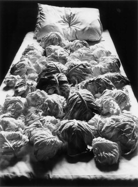 Fig. 4. Kon Michiko, Cabbages and Bed #2, 1979, © Kon Michiko, 1979, courtesy Photography Gallery International, Tokyo.
