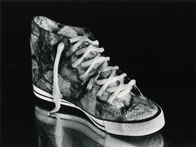 Fig. 5. Kon Michiko, Cuttlefish and Sneaker, 1989, © Kon Michiko, courtesy Photography Gallery International, Tokyo.