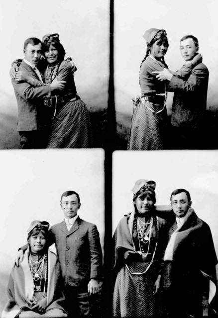 Fig. 10. Frank Matsura, Matsura and Miss Cecil Chiliwhist, ca. 1910. Frank Matsura Photographs (35-01-05), Manuscripts, Archives, and Special Collections (MASC), Washington tate University Libraries.