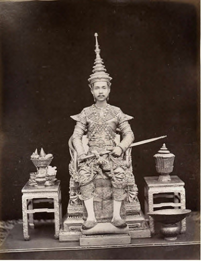 Francis Chit, H. M. King Chulalongkorn, Rama V, on his second coronation, October 1873, Thailand 1830–1891, 27.0 x 21.5 cm, albumen silver photograph, courtesy National Gallery of Australia, Canberra.