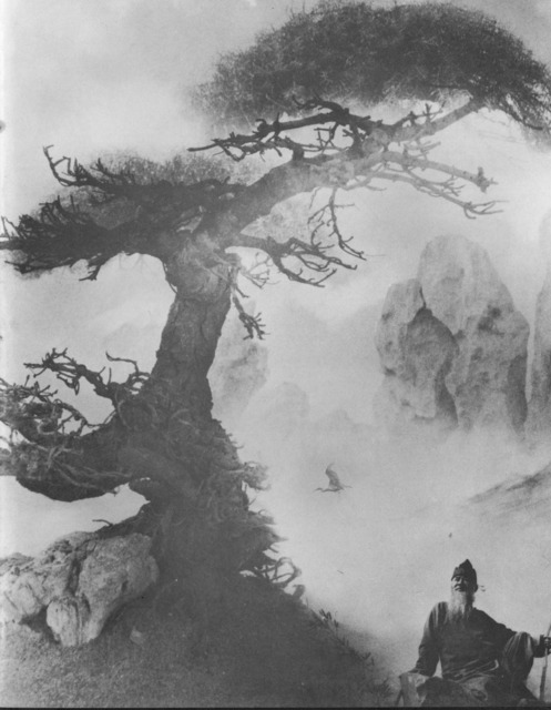 Fig. 3. Lang Jingshan, Cangsong gaoshi (Lofty Scholar under a Pine Tree), c. 1963, composite photograph reproduced in Badeyuan shejing.